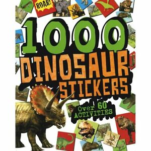 Dinosaur Stickers Colouring book 1000 Stickers 60 Activities Inside Trex Dino
