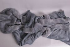 New PB Pottery Barn Teen Iced Ice Faux Fur Hooded bath robe one size gray quarry