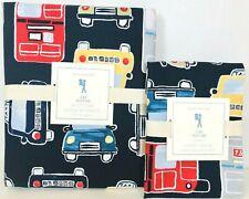 New Pottery Barn Kids Car Twin Duvet Cover & Standard Sham, Autos, Navy/Multi