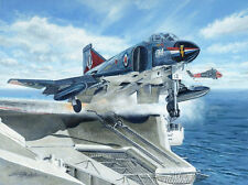McDonnell Phantom FG.1 892 Squadron HMS Ark Royal Aircraft Painting Art Print
