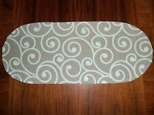 New Beige Small Table Runner-Toilet Tank Topper-Shelf-Dresser-Designer Fabric