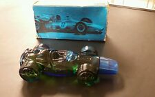 vTg Avon Cobalt Blue Glass Winner Indy Race Car Wild Country Aftershave Bottle