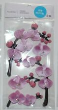 """NEW RELEASE! RECOLLECTIONS """"ORCHID FLOWER 3D  STICKERS""""  5 Pieces"""