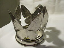 BATH & BODY WORKS  Silvertone Metal Holder with Butterflies For Soap Dispenser