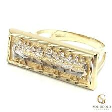 NEW 10K YELLOW GOLD 24 MM WIDE LAST SUPPER JESUS & APOSTLES HIP HOP RING R3040