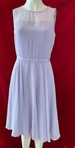 BNWT HOBBS Abigale, Lilac Sleeveless, Midi Lined Dress. Size 10