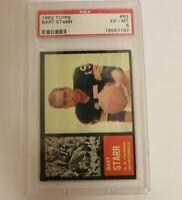 1962 Topps #63 Bart Starr PSA 6 Green Bay Packers HOF University of Alabama