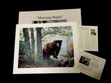 """CHARLES FRACE   """"Morning Watch"""" (bear) S# lithograph Edition of 3600 >30"""" 1992"""