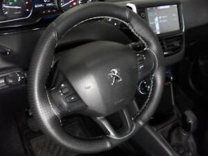 Cubierta Del Volante Peugeot 208 Cuero Auténtico Negro