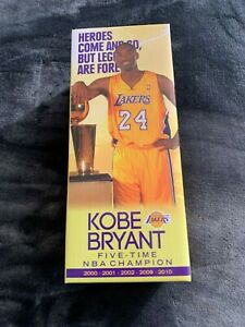 (1-4) KOBE BRYANT FINAL SEASON BOBBLEHEAD STAND BASE SGA 3/1/16 MAMBA LA LAKERS
