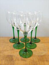 "Luminarc Emerald Green Wine Glass 7 3/4"" Lot of 6"
