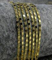 Neu 1Stk. Gold Kette Halskette Collier Damen Herren Königskette 22''