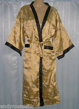 Thai Silk Kimono / Robe / Dressing Gown / Night Dress / Gold / FREE POST