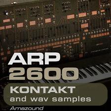 ARP 2600  for KONTAKT 370 .nki PATCHES & 3000+ WAV SAMPLES 24BIT AMAZING QUALITY