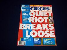 1984 JANUARY 31 CIRCUS MAGAZINE - QUITE RIOT - MUSIC CENTERFOLD - B 1815