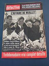 Détective 1963 902 MIALET VENDAYS BAILLEUL SUR THéRAIN SAINT JEAN DU CARDONNAY