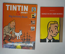 tintin 2 livres anglais jeux petite bio parfait état neuf
