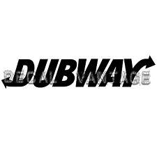 Dubway Vinyl Sticker Decal Music JDM Dubstep - Choose Size & Color