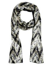 JUICY COUTURE SKINNY ZIG ZAG SEQUIN SCARF ORG. $78.00 BNWT