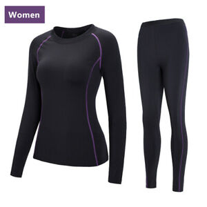 Women Thermal Underwear Set Quick Dry Breathable Thermo Warm Long Johns Outdoor