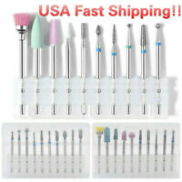 10/set Nail Art Grinding Drill Bits Electric Manicure Machine Diamond Bullet Bit