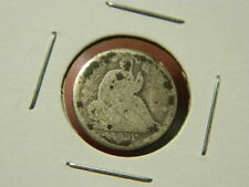 "U.S. 1839-O LIBERTY SEATED HALF 1/2 Dime - ""No Drapery"" - Silver Coin - Good"