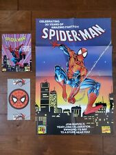 1992 AMAZING SPIDER-MAN 30TH ANNIVERSARY COMIC PROMO POSTER SET MARVEL BAGLEY