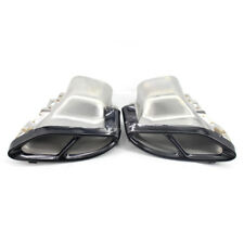 Pair Rear cylinder exhaust Trim Pipes For Benz E Class W212 W213 14+C300