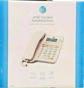 AT&T CL2909 Corded Speakerphone Caller ID Phone Mountable No Power Needed White