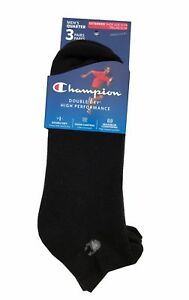 Champion Men's Double Dry High Performance Socks  3-pack Ankle Size 12-14   USA