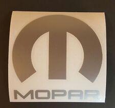 """Mopar Vinyl Decal Sticker Dodge Jeep, 5""""X5"""" DIE CUT. SILVER GREY METALLIC"""