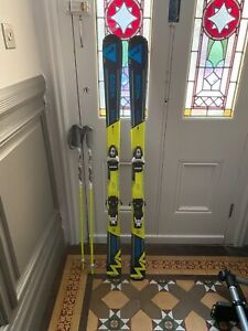Children's skis, Wedze brand from Decathlon, come with bindings and poles