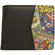 Marvel Wallet Retro Comic Print With Black Interior