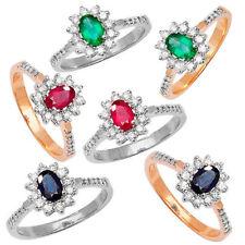 Anillos de joyería con diamantes en oro blanco zafiro