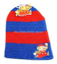 NEW Nintendo Bit Logo Knit Mario Beanie