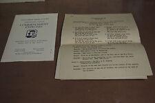Vintage 1946 – Nescopeck High School Class Night Program Commencement Exercises