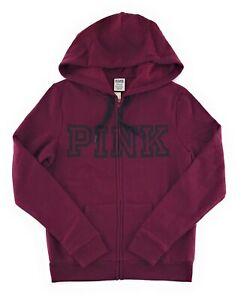 Victoria's Secret PINK Hoodie Perfect Full Zip Hood Jacket Pockets