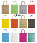Party Bags Kraft Paper Gift Bag Twisted Handles Recyclable Loot Wedding - Small