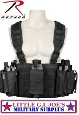Black Special Forces Combat Assault Operators Tactical Chest Rig Rothco 67550