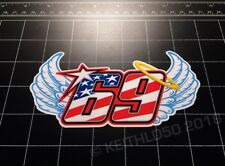 Nicky Hayden wings & halo 69 tribute decal / sticker MotoGP World Superbike