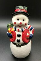 """Snowman Hinged Lid Trinket Box Collectible Figurine Gift Box Porcelain 4"""""""