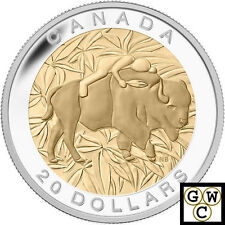 2014 Respect-7 Sacred Teachings Gold-Plated Prf $20 Silver Coin 1oz 9999 (13901)