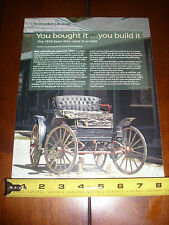 1910 SEARS MODEL H GAS RUNABOUT HORSE LESS CARRAIGE  - ORIGINAL 2007 ARTICLE