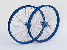 Vintage NOS Kin Lin 20 x 1.75 Dimpled Anodize Blue Wheelset