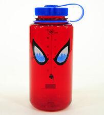 Nalgene Tritan 32oz Water Bottle, Wide Mouth, Red/Blue, Spiderman Eyes