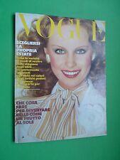 VOGUE Italia Maggio 1974 May Tina Aumont Fashion Italy RARE VINTAGE magazine