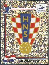 PANINI WORLD CUP FRANCE 1998- #535-HRVATSKA-CROATIA TEAM BADGE-SILVER FOIL