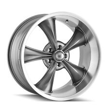 "CPP Ridler style 695 Wheels, 17x7 front + 18x8 rear, 5x4.75"", GRAY & MACHINED"