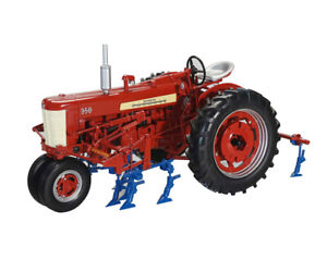 IH FARMALL 350 WITH TWO ROW CULTIVATORS 1/16 DIECAST MODEL BY SPECCAST ZJD1852
