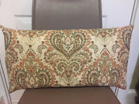 Decorative Pillow Cover Luxuries Fabric Brown Green Beige Coral Cream Jacquard